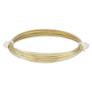 Wire-Wrapping Wire Brass and Brass-Plated Gold Colored