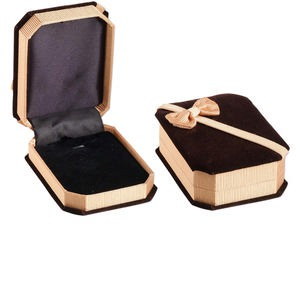 Gift and Presentation Boxes Velveteen Browns / Tans