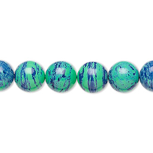 Beads Azurite-Malachite Multi-colored