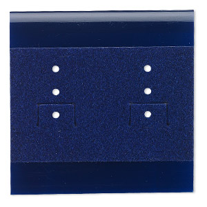 Earring Cards Velveteen Blues