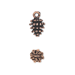 Charms Copper Plated/Finished Copper Colored