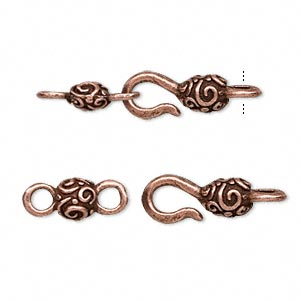 Hook and Eye Copper Plated/Finished Copper Colored