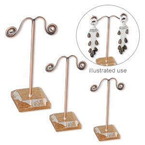 Earring Displays Copper Plated/Finished Copper Colored