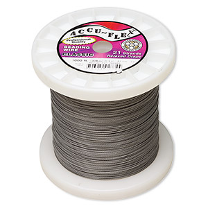 Beading Wire Stainless Steel Silver Colored