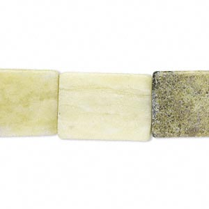 Bead, Multi-serpentine (natural), 19x13mm-20x14mm Flat Rectangle, C Grade, Mohs Hardness 2-1/2 6. Sold Per 16-inch Strand