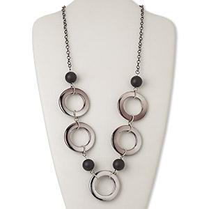 SKALLI Multirang-plated silver donuts multicolored jewel
