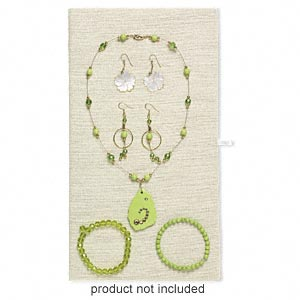Display pad insert, hemp, natural color, 14 x 7-3/4 inches. Sold individually.