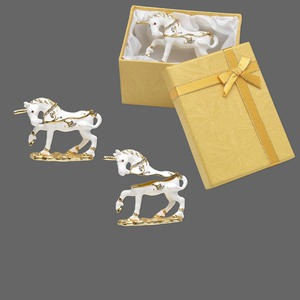 Gift and Presentation Boxes Enameled Metals Whites