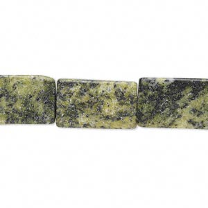 """Bead, Yellow """"turquoise"""" (natural), 17x8mm-18x10mm Flat Rectangle, C Grade, Mohs Hardness 2-1/2 6. Sold Per 16-inch Strand"""
