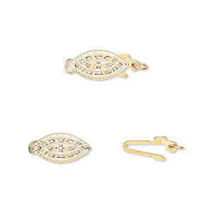 Fishhook Clasps Gold-Filled Gold Colored