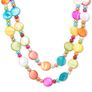 Continuous Loop Mother-Of-Pearl Multi-colored
