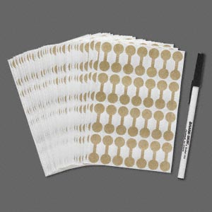 Price Tags and Labels Gold Colored Shark-Skin
