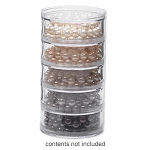 Organizer Jar, Space Saver, Acrylic, Clear, 2-3/4 X 1-1/4 Inch Round. Sold Per 5-piece Set # 210