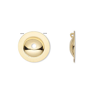 Button Converters Gold Plated/Finished Gold Colored