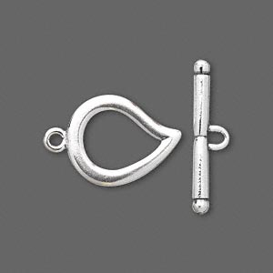 Clasp, JBB Findings, Toggle, Sterling Silver, 17x15mm Leaf. Sold Individually 5513/5514SH