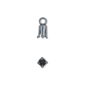 Cord Ends Gunmetal Greys
