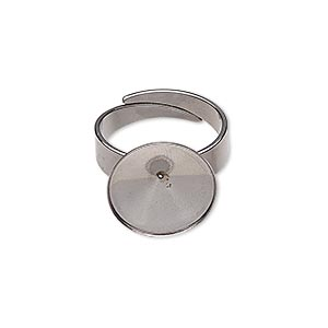 Ring Settings Stainless Steel Silver Colored