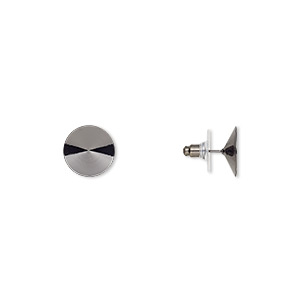 Earring Settings Gunmetal Greys