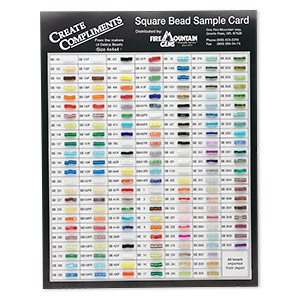 Miyuki Bead Sample Card For Square Seed Beads Sold Individually Fire Mountain Gems And
