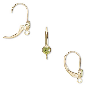 Leverback earring findings Gold-Filled Greens