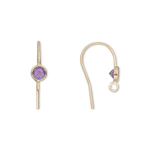 Hook Ear Wire Findings Gold-Filled Purples / Lavenders