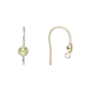 Hook Earwires Gold-Filled Greens