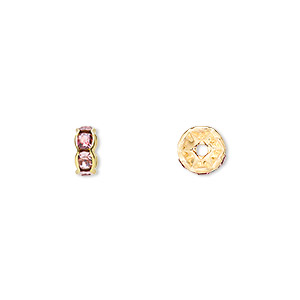 Spacer Beads Gold Plated/Finished Pinks