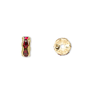 Spacer Beads Gold Plated/Finished Reds