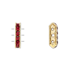 Spacer Bars Gold Plated/Finished Reds