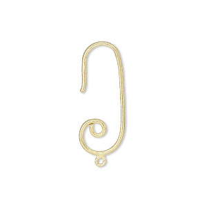 Hook Ear Wire Findings Sterling Silver Gold Colored