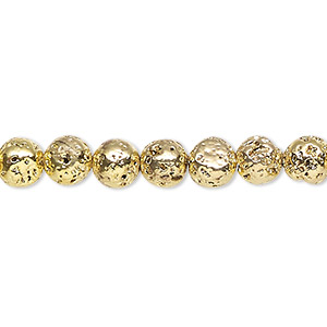 Beads Lava Gold Colored
