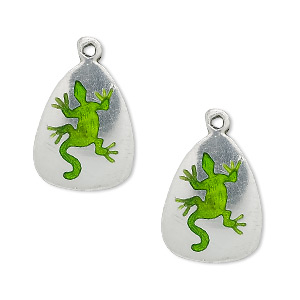 Charms Enameled Metals Greens
