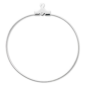 Beading Hoops Silver Plated/Finished Silver Colored