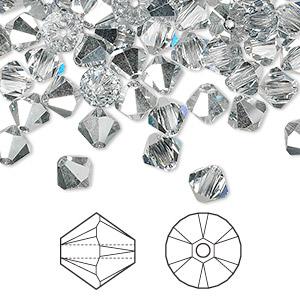 bb6db8ea4 Bead, Swarovski® crystals, crystal CAL, 6mm Xilion bicone (5328 ...