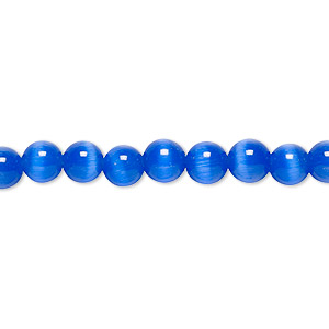 Beads Cat's Eye Glass Blues