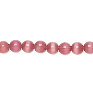 Beads Cat's Eye Glass Pinks
