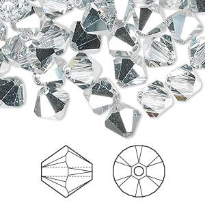 441e13439 Bead, Swarovski® crystals, crystal CAL, 8mm Xilion bicone (5328 ...
