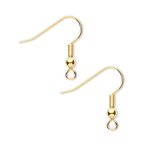 Hook Ear Wire Findings Gold Plated/Finished Gold Colored