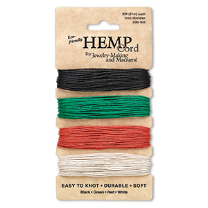 Cord Hemp Mixed Colors