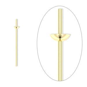 Headpin, 14Kt Gold-filled, 24 Gauge, 3/4 Inches Long, Cup Peg. Sold Per Pkg 4