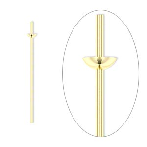 Headpin, 14Kt Gold-filled, 24 Gauge, 1-inch Long, Cup Peg. Sold Per Pkg 4