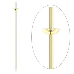 Headpin, 14Kt Gold-filled, 24 Gauge, 1-1/2 Inches Long, Cup Peg. Sold Per Pkg 4