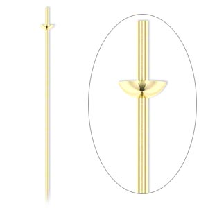 Headpin, 14Kt Gold-filled, 24 Gauge, 2-inches Long, Cup Peg. Sold Per Pkg 4