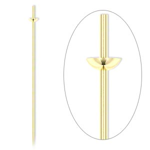 Headpin, 14Kt Gold-filled, 24 Gauge, 3-inches Long, Cup Peg. Sold Per Pkg 4