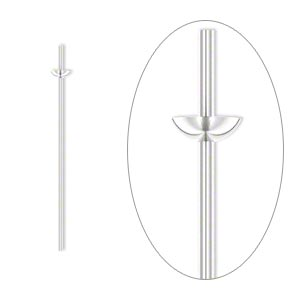 Headpin, Sterling Silver, 1 Inch Cup Peg, 21 Gauge. Sold Per Pkg 4