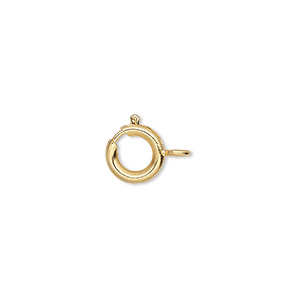 Springring Gold Plated/Finished Gold Colored