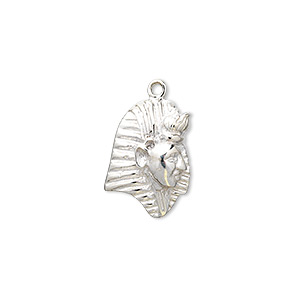 Charm, Sterling Silver, 21x13mm Pharaoh. Sold Individually