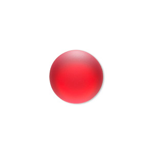 Cabochon, Lunasoft, Aluminum Lucite®, Matte Cherry, 18mm Non-calibrated Round. Sold Individually 13194 18MM CHERRY