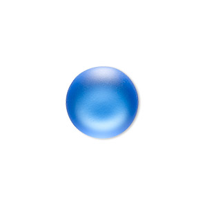 Cabochon, Lunasoft, Aluminum Lucite®, Matte Blueberry, 18mm Non-calibrated Round. Sold Individually 13194 18MM BLUEBERRY