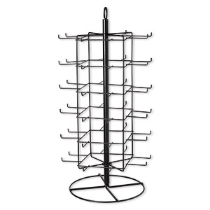 Display, Painted Steel, Black, 28-1/4 X 13-1/2 X 13-1/2 Inch Revolving 48 Hooks. Sold Individually